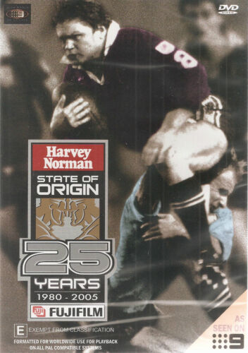 25 Years Of State Of Origin (DVD, 2005) 1980 - 2005 Highlights  New Free Post