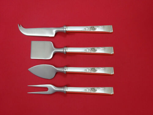 Classic Rose by Reed & Barton Sterling Cheese Serving Set 4 Piece HHWS  Custom