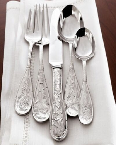 Japanese Bird Audubon by Ricci Stainless Flatware Set for 12 Service 67 pcs New