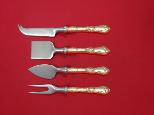 Les Cinq Fleurs By Reed & Barton Sterling Cheese Serving Set 4 piece HHWS Custom