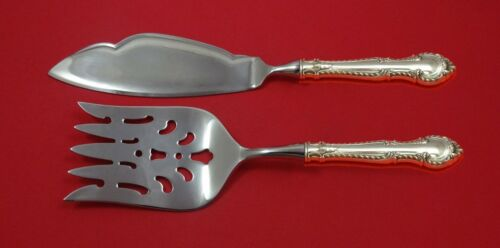 English Gadroon by Gorham Sterling Silver Fish Serving Set 2 Piece Custom HHWS