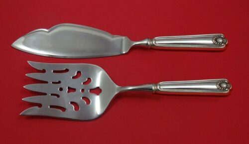 Fiddle Shell by Frank Smith Sterling Silver Fish Serving Set 2 Piece Custom Made