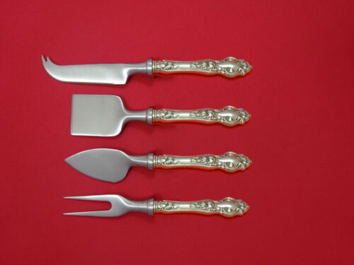 Violet by Wallace Sterling Silver Cheese Serving Set 4pc HHWS  Custom