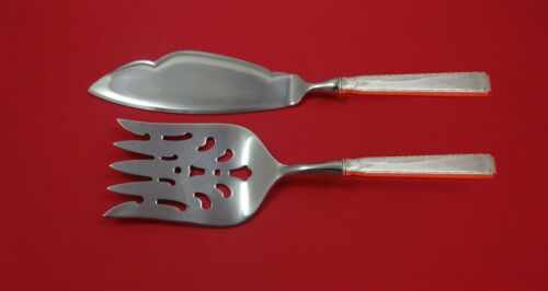 Old Lace by Towle Sterling Silver Fish Serving Set 2 Piece Custom Made HHWS