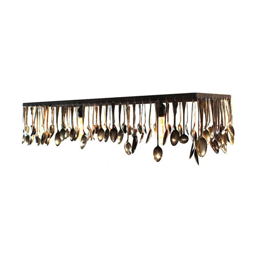 Chandelier of Antique Silver Spoons Custom Made & Sizes Ceiling Fixture