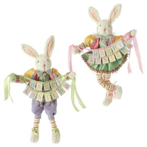 Raz 18 Colorful Bunny Easter Pillow: Easter Rabbits