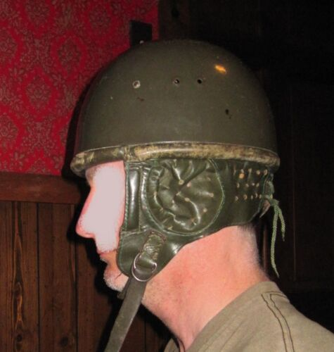 VINTAGE PARATROOPER OLD HELMET WZ63 EAST GERMAN POLISH MADE NR 57 LEATHER LINEROriginal Period Items - 13982