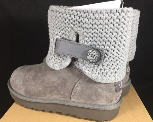 UGG Australia Women's Shaina Grey Gray Knit Boots NEW 1012534 Cuff Ankle Bootie