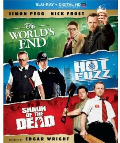 World's End/Hot Fuzz/Shaun Of The Dead Trilogy - 3 DISC (2013, Blu-ray NEW) BLU-