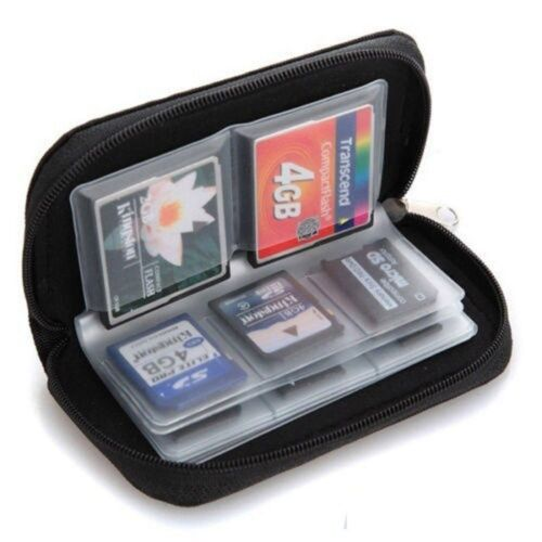 Memory Card Storage SDHC MMC CF Micro SD Wallet Carrying Pouch Case Holder