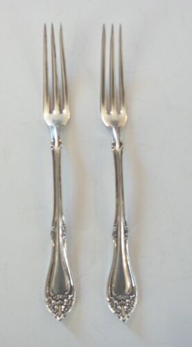 "PAIR AMERICAN SILVER PLATE STRAWBERRY FORKS marked ""HAMILTON"""
