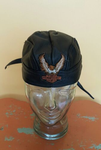 75644f6cd leather harley hat | Militaria (US)