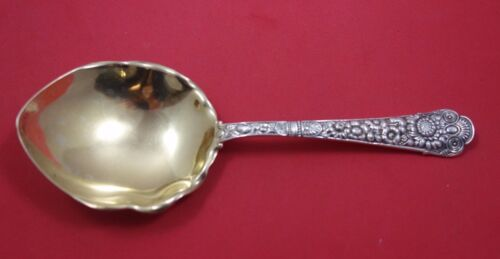 """Cluny by Gorham Sterling Silver Pudding Spoon Gold Washed 8 3/4"""""""