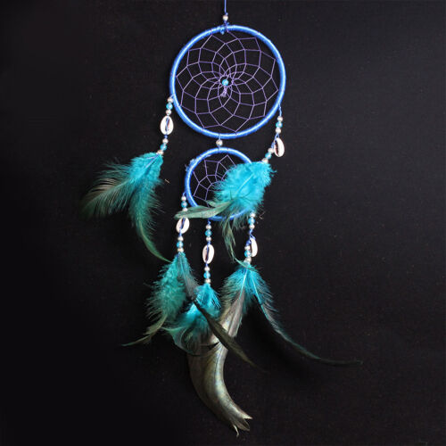 """19"""" Handmade Dream Catcher Net With Feathers Hanging Decorations Craft Gift New"""