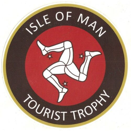 TT Isle of Man sticker vinyle laminé