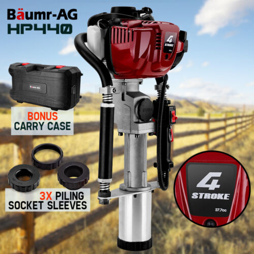 Baumr-AG Petrol Post Driver 4-Stroke Pile Star Picket Rammer Fence Star Four <br/> 4 Stroke Engine | 4 Pile Sleeves & Carry Case Included