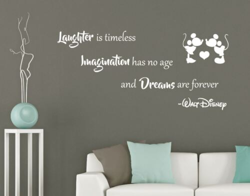 Walt Disney Quote - Wall Sticker If you can dream it Laughter is timeless Mickey