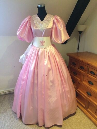 Edwardian/Victorian 19th Century Ball Gown Custom made in Pink PLEASE READ!