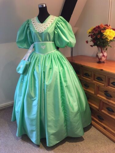 Edwardian/Victorian 19th Century Ball Gown Custom made in Apple PLEASE READ!