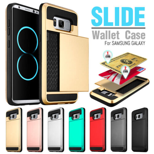 Credit Card Holder Shockproof Wallet Case Cover For Samsung Galaxy S7 / Edge S8