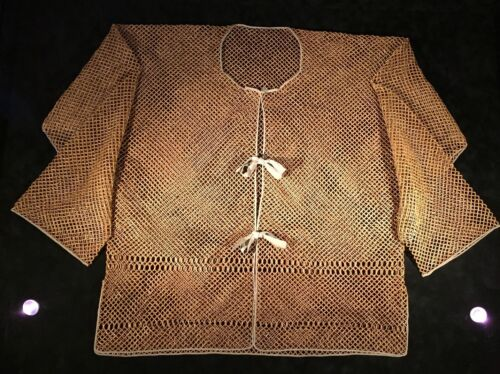 Museum Antique Chinese Qing Dynasty Bamboo Jacket Garment 18th 19th Century