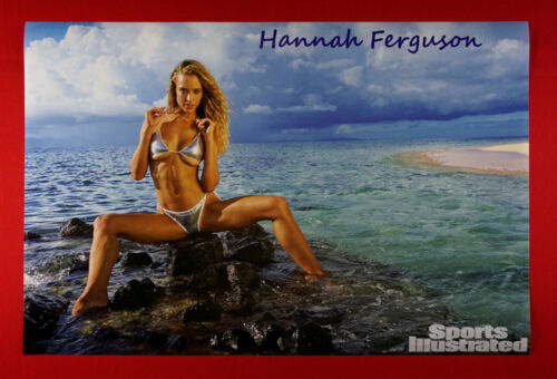 Sports Illustrated Swimsuit Hannah Ferguson Island Beach Picture Poster 24X36