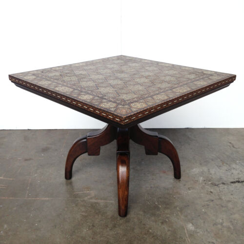 Rare Widdicomb Side End Table w/ Inlaid Top Mid Century Hollywood Regency