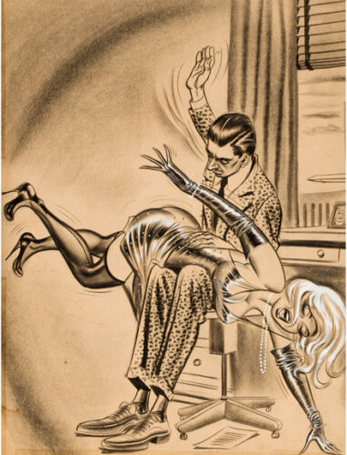 Bill Ward Vintage Illustration Art A Spanking 14 x 11 Photo Print