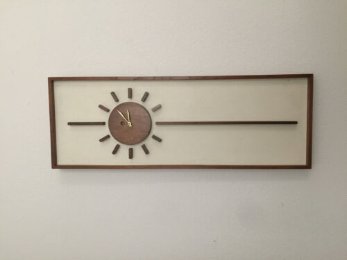 PETER PEPPER CLOCK VINTAGE MID CENTURY CALIFORNIA MODERN EAMES