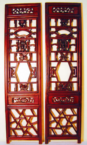 Antique Chinese Screen Panels (3038)(Pair) Cunninghamia Wood, Circa 1800-1849