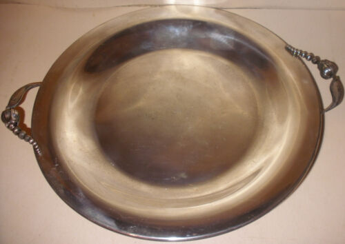 Rare large vintage mid century Denmark sterling silver tray Georg Jensen style