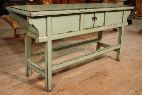 SPECIAL CONSOLE COUNTER CUPBOARD EASTERN WOOD PAINTED PERIOD '30432.6oz 70 7/8in