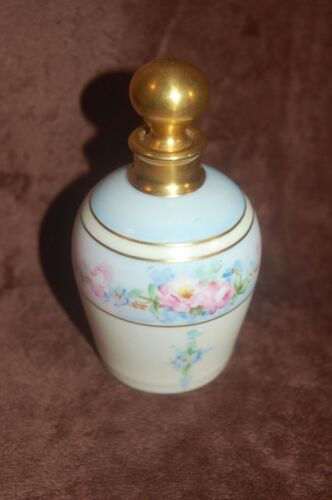 Antique Hand Painted Porcelain Perfume Bottle By W. Pickard - Signed! RARE!
