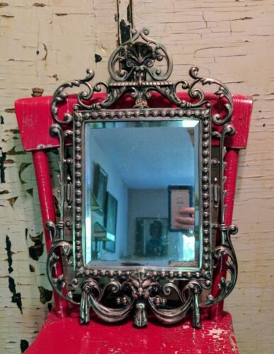 Victorian Vanity Mirror with Beveled Glass