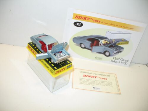 dinky toys voiture opel rekord COUPE bleue, dinky atlas ref 1405