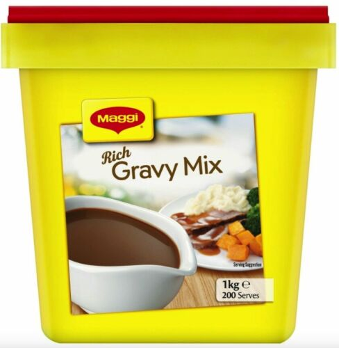 RICH GRAVY MIX 1KG BY MAGGI - LONG EXPIRY Aug 2021 (SECURELY PACKED) FREE POST