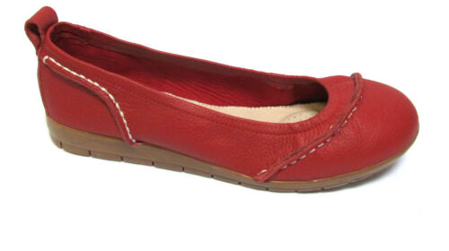 TS shoes TAKING SHAPE sz 6 / 37 Suzanne Leather Ballet Flats comfy red NIB!
