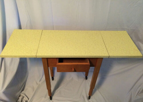 Vintage Mid Century Modern Yellow formica