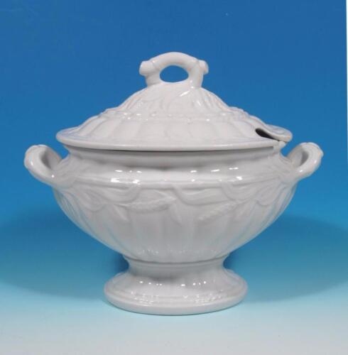 Elsmore Forster Antique English Ironstone Ceres Wheat Tureen Sauce Boat EXC!
