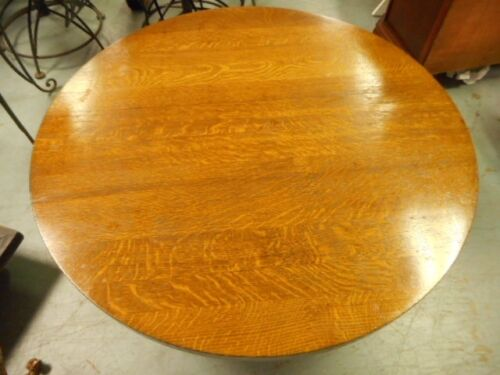 Stickley Round Mission Oak Wedged Tennon Coffee Table marked Lot 48