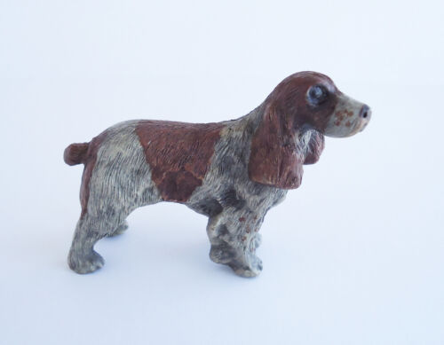 Vienna Austria Antique Cold Painted Bronze Austrian Dog English Springer Spaniel