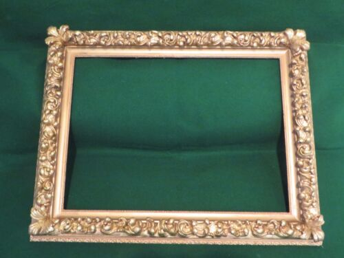 Antique Wood Gesso Gold Gild Picture Frame for an Oil Painting, Mirror, Print