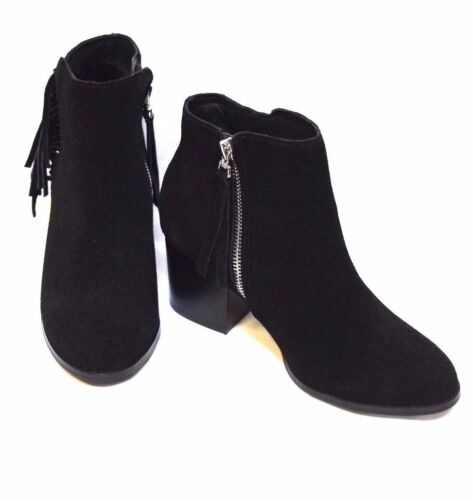 TS shoes TAKING SHAPE sz 37 / 6 Tassled Ankle Boots black suede leather NIB $200