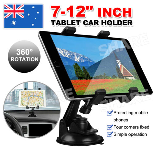 """Car Windscreen Suction Mount Holder For iPad Mini Pro Samsung Tablet PC 7-12"""""""