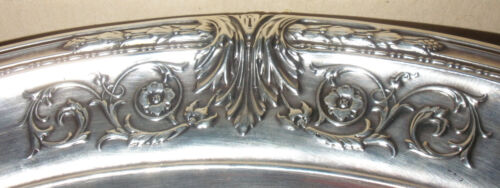 "Beautiful antique Meriden Britannia Sterling Silver large 10"" fruit bowl WD 9"