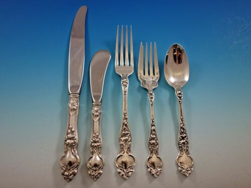 Violet by Wallace Sterling Silver Flatware Set Service 30 pieces No Monograms
