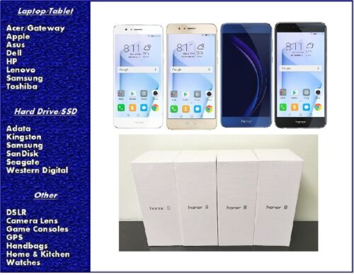 NEW Huawei Honor 8 GSM Factory Unlocked Smartphone 64GB, SEALED