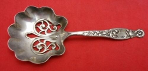 """Heraldic by Whiting Sterling Silver Nut Spoon Gold Washed 4 1/2"""""""