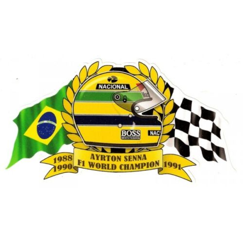 A.SENNA WORLD Champion F1 Sticker vinyle