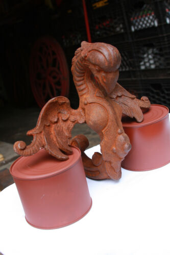 HORSEDRAWN HEARSE EAGLE / SERPENT FINIAL CAST IRON